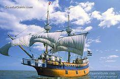 Elizabeth II, usually docked at Roanoke Island Festival Park