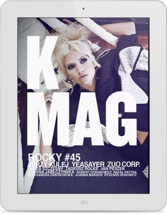 Magazyn K MAG to dwujęzyczny magazyn o modzie, stylu, kulturze i sztuce.  Klient: K MAGAZINE Wersja: iOS.