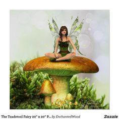 "The Toadstool Fairy 20"" x 20"" Print"