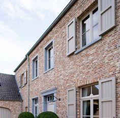Ral Colours, Colors, Belgian Style, Garage Doors, New Homes, Houses, Windows, Stone, Architecture