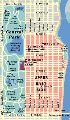 Map Of New York City Attractions Printable Manhattan