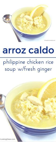 Arroz Caldo. Philippine Chicken Rice soup has excellent flavor. Aromatic, pungent and spicy, ginger has many health benefits.