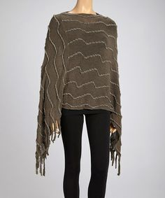 Take a look at this Gray Textured Poncho by SR Fashions on #zulily today! $20 !!