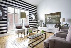 For the love of stripes! From Ty Larkins Interiors via Decor Pad.