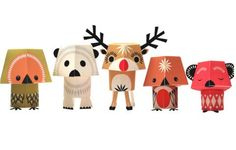 mibo paper animals - Christmas Creatures @www.nicestuff.at
