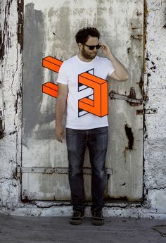 People Skewered with Geometric Shapes by Aakash Nihalani