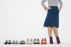 """""""These heeled Chelsea boots are amazing. My favourite look is to wear them with this super chic skirt, but they're also great with jeans. The jewel colour is so rich and lovely – just adore!"""" Sarah, the Boden Stylist. #NewBritish"""