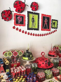Dimequesi 's Birthday / Ladybugs - Miraculous Ladybug birthday party at Catch My Party 6th Birthday Parties, 4th Birthday, Frozen Birthday, Birthday Ideas, Miraculous Ladybug Party, Meraculous Ladybug, Ladybugs, Bubble Guppies Birthday, Bday Girl