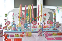 CANDYLAND Birthday Party PLACE MATS Customized by andersruff. $18.00 USD, via Etsy.