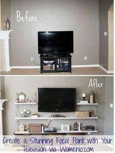 Mag es eigentlich nicht, wenn der blöde Fernseher den Raum dominiert. Müssen aber auch all den anderen Elektrokrempel unterbringen...