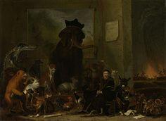 1663.Satire op de berechting van Johan van Oldenbarnevelt. Rijksmuseum.De landsadvocaat zit op een bankje omringd door zijn rechters in de gedaante van verschillende soorten dieren:Nicolaes Kromhout (olifant),Reynier Pauw (pauw),Henrick van Essen en Nicolaes de Voogt (leeuwen),Hugo Muys van Holy (tijger),Gerard Beuckels.van Santen (krokodil),Pieter Jansz.Schagen (vioolspelende ezel met doedelzak en een muziekboek),Aelbrecht Bruyning (hond),Adriaen Ploos (aap met een weerhaan of palmpaashaan