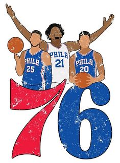 d7287a71b01  Sixers  Poster by LanaWilchai