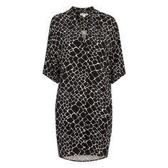 Giraffe Print Dress, in Black/Multi on Whistles