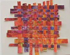 Art: Watercolor Weaving by Artist Ulrike 'Ricky' Martin