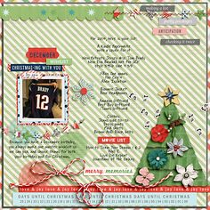 Advent: Story Seeds, Advent: Papers and Advent: Elements by Sara Gleason;  December 2014 Template Challenge by Allison Pennington; Font: DJB PROJECT STORYTELLER by Darcy Baldwin
