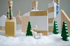 How to: Make a Modern Advent Village