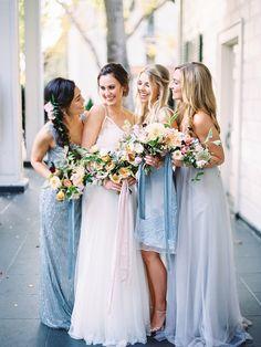 blue wedding inspiration | dresses from BHLDN | ashley slater photography | image via: ruffled