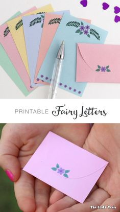 Write letters to the fairies with this free printable fairy-sized writing paper with matching envelopes idea the world training craft craft diy craft for kids craft no sew craft to sale Creative Activities For Kids, Creative Play, Crafts For Kids, Writing Activities, Writing Resources, Writing Paper, Letter Writing, Printable Crafts, Free Printables