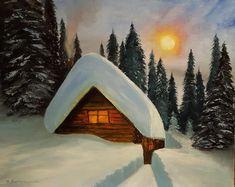 Домик В Лесу Paintings Artwork Online, Art Auction, Impressionism, Outdoor Gear, Buy Art, Tent, Contemporary Art, Fine Art, Artist