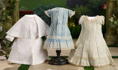 """I Only Wanted to Wonder"" - August 1, 2017: 259 Three French Early Dresses for 1880 Era Bebes"