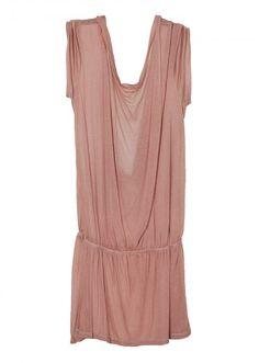 TCN backless draped dress