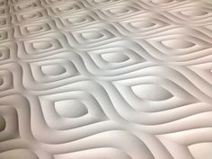 A variation on 'Lettuce'. Fodera wall panel with white 3M Di-NOC finish.