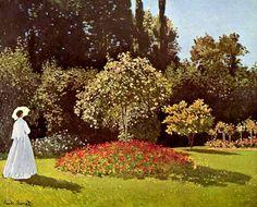 Клод Моне. Дама в саду (1867)