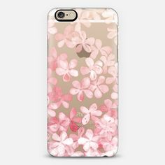 CASETiFY iPhone 6 Case - Plumbago Blossoms - pastel blue & white painted floral on transparent by Micklyn Le Feuvre Floral Iphone Case, Coque Iphone 6, Iphone 6 Plus Case, Diy Phone Case, Cute Phone Cases, Iphone Case Covers, Iphone 4 White, Pink Iphone, Phone Cases