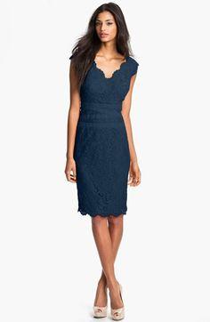 Tadashi Shoji Lace & Tulle Sheath Dress available at #Nordstrom
