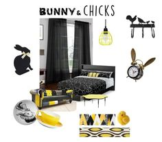 """Bunny & Chicks"" by leotheo ❤ liked on Polyvore featuring interior, interiors, interior design, home, home decor, interior decorating, Vue, South Shore, Flash Furniture and Rory Dobner"
