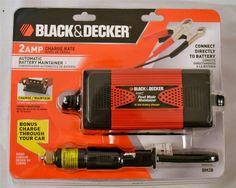Black & Decker 2 Amp Automatic Battery Float Charger #BlackDecker