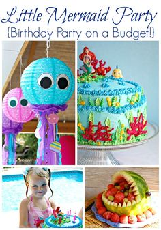 AMAZING Little Mermaid Birthday Party all planned on a BUDGET! 3 Little Greenwoods