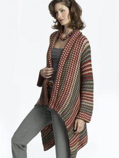 Asymmetrical Jacket   Yarn   Knitting Patterns   Crochet Patterns   Yarnspirations