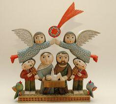 Nativity Creche, Christmas Nativity Scene, Vintage Christmas Ornaments, Handmade Christmas, Nativity Sets, Christmas Projects, Christmas Holidays, Xmas, Silent Night Holy Night