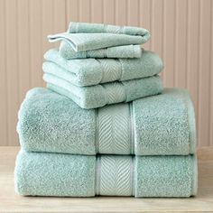 "Better Homes and Gardens Thick and Plush 6-Piece Cotton Bath Towel Set in ""Aquifer"""