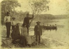 Group of visitors on an excursion to Stradbroke Island Queensland, ca. 1885
