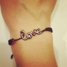 Love macrame bracelet by AroundMyWrist on Etsy, 12.50