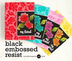 Black Embossed Resist
