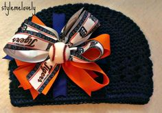 Hey, I found this really awesome Etsy listing at https://www.etsy.com/listing/177187225/detroit-tigers-baby-girl-boutique-bow
