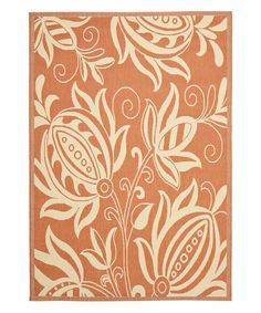Love this Terracotta & Natural Keaton Indoor/Outdoor Rug by Safavieh Rugs on #zulily! #zulilyfinds