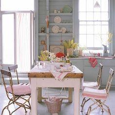 beach decor pink kitchen