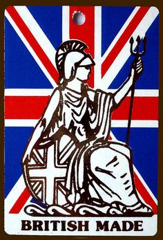 """Rule Britannia-----wish I could say I was """"made in Britain,"""" but I can't.  Maybe in a previous life. ;)  But I was able to buy a few things with the tag 'made in Britain,' so am content.  :)"""