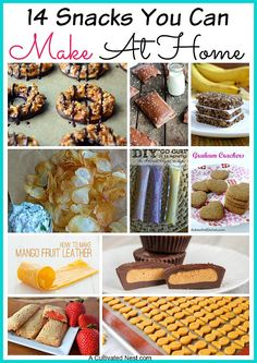 14 Snacks You Can Make At Home Instead of Buying - these snacks are simple to make at home and healthier than the store bought version!