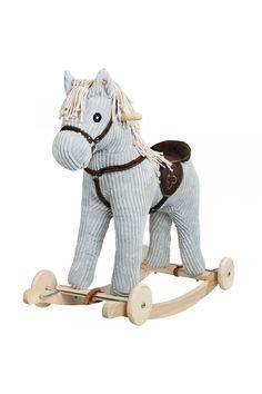 Hojdací koník s kolieskami PlayTo Skateboard, Bobby, Sports, Products, Plush, Grey, Plush Rocking Horse, Wooden Toys, Gaming