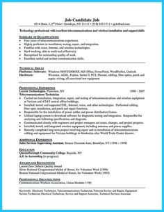 Low Voltage Installer Resume Sample Reentrycorps