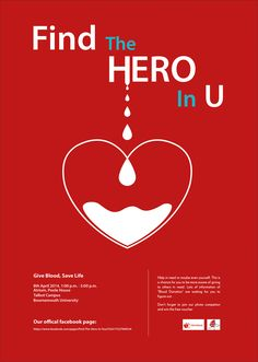 A poster I designed for the blood donation event in Bournemouth University.