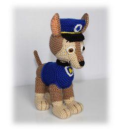 Chase Pup Paw Patrol Pattern, crochet puppy pattern, dog crochet pattern, puppy crochet pattern, police dog crochet pattern