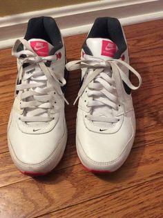 e6a732247 NIKE AIR MAX NAVIGATE Womens Size 10 White Black  Pink Running Shoes   fashion
