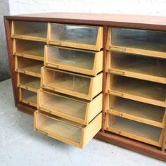 Midcentury 20 Drawer Haberdashery Shop Counter   Lovely & Co.