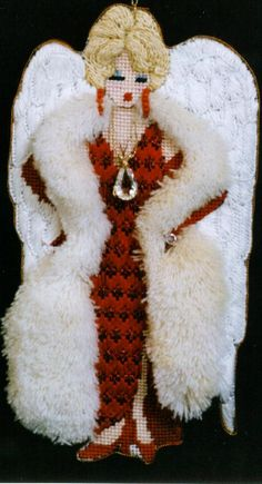 Joan Thomasson - Madam Lil (Red with Jewels and Boa) Kit Price	$48.00 Canvas Price	$28.00